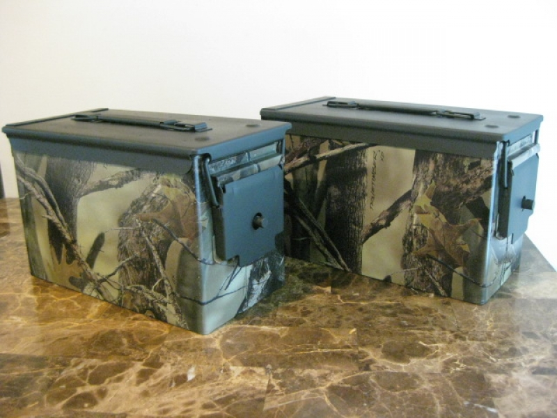 True Timber XD Hydro Dipped  50 cal double gun case - The