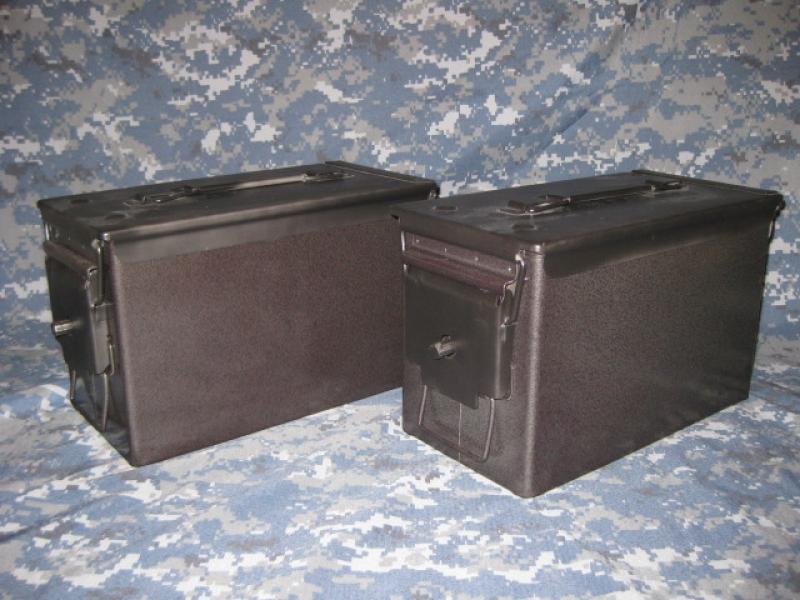 AMMO CAN HANDGUN CASE, VERY COOL, DOUBLE GUN, .50 AMMO BOX, .50 CAL, CHARCOAL