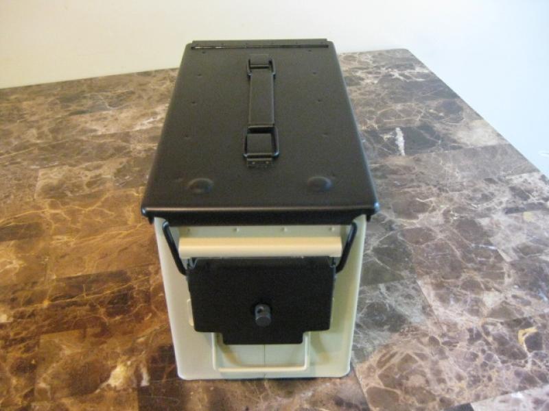 AMMO CAN HANDGUN CASE, VERY COOL, DOUBLE GUN, .50 AMMO BOX, .50 CAL, GLOCK VERSION