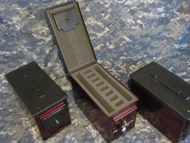 Ammo Can Handgun Case Very Cool Double Gun 50 Ammo Box