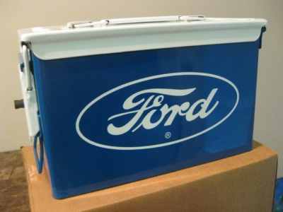 FORD EDITION .50 CAL CASE IN TRADITIONAL FORD BLUE AND WHITE
