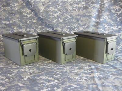 AMMO CAN HANDGUN CASE, VERY COOL, DOUBLE GUN, .50         AMMO BOX, .50 CAL, OD GREEN WITH BLACK TOP