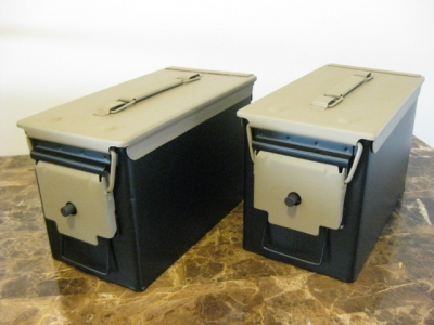 VERY COOL, DOUBLE GUN, .50 AMMO BOX, .50 CAL, FLAT BLACK WITH FDE TOP