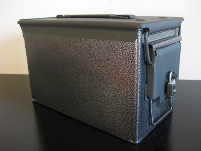 AMMO CAN HANDGUN CASE, VERY COOL, DOUBLE GUN, .50 AMMO BOX, .50 CAL, CHARCOAL