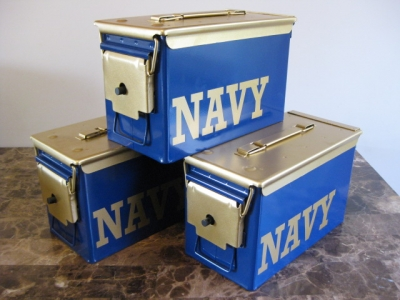 VERY COOL, DOUBLE GUN, .50 AMMO BOX, .50 CAL, US NAVY EDITION