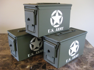 VERY COOL, DOUBLE GUN, .50 AMMO BOX, .50 CAL, US ARMY EDITION