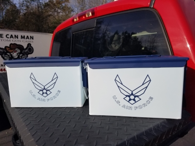 VERY COOL, DOUBLE GUN, .50 AMMO BOX, .50 CAL, US AIR FORCE EDITION