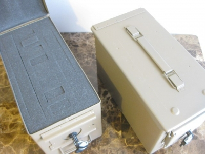 AMMO CAN HANDGUN CASE, VERY COOL, DOUBLE GUN, .50         AMMO BOX, .50 CAL, FLAT DARK EARTH