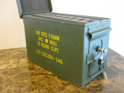 AMMO CAN HANDGUN CASE, VERY COOL, DOUBLE GUN, .50         AMMO BOX, .50 CAL, NATURAL MIL SPEC PAINT